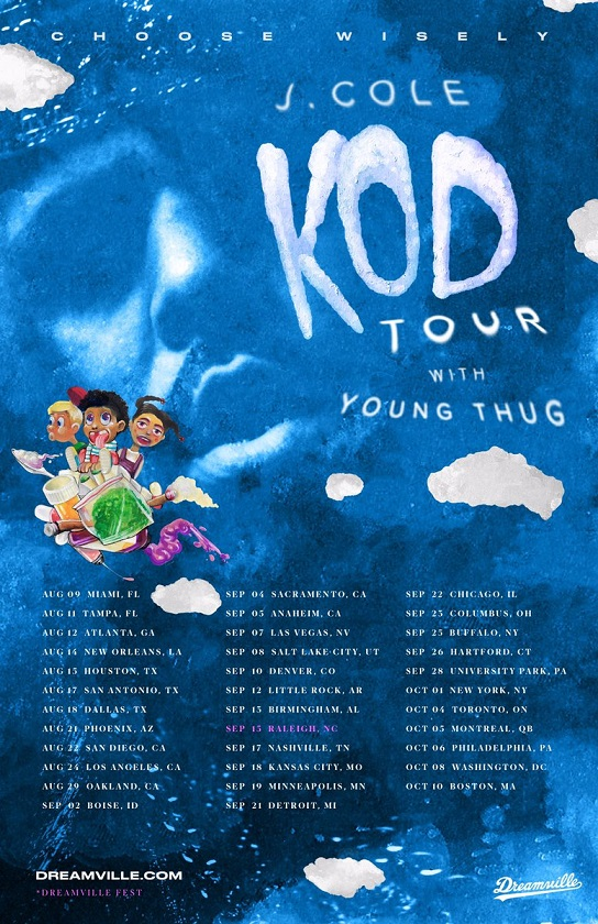 J Cole Announces K O D Tour With Young Thug 183 Inthrill